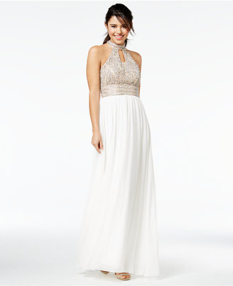 Say Yes to the Prom Juniors' Embellished Halter Gown, A Macy's Exclusive $179 thestylecure.com