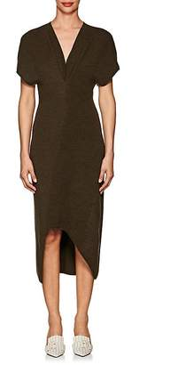 Victoria Beckham Women's Multi-Knit Wool Asymmetric Dress