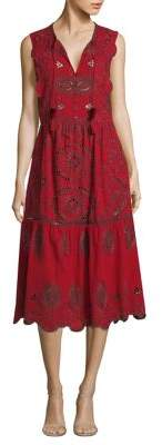 Sea Ruffle Fit-&-Flare Dress