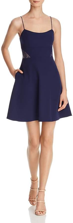 Lace-Inset Crepe Dress - 100% Exclusive