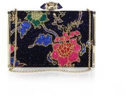 Judith Leiber Tall Slender Floral Swarovski Crystal Clutch $4,495 thestylecure.com