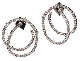 Alexis Bittar Crystal Encrusted Coil Link Post Earrings