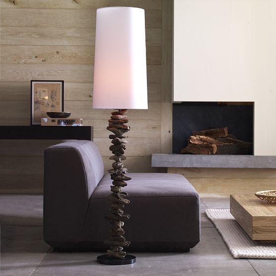 Weathered Wood Floor Lamp