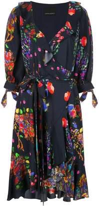 Cynthia Rowley forest print wrap dress