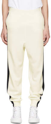 Stella McCartney Off-White Wool Stripe Sweatpants
