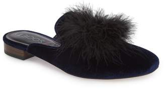 Sole Society Cleona Feather Pompom Mule