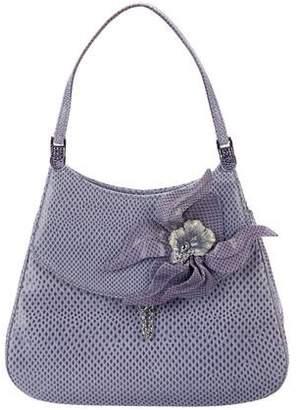 Judith Leiber Floral-Embellished Evening Bag