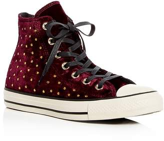 Converse Chuck Taylor Embellished Velvet High Top Sneakers