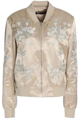 3x1 Embroidered Cotton-Blend Satin Bomber Jacket