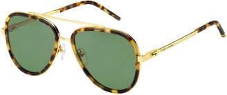 Marc Jacobs Metal & Plastic Aviator Sunglasses
