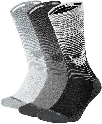 Nike Men's 3-pack Dri-FIT Swoosh HBR Performance Crew Socks