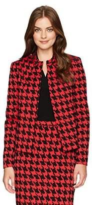 Kasper Women's Bold Houndstooth Flyaway Jacket
