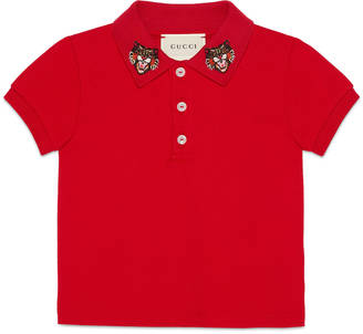 Baby cotton polo with Angry Cat $170 thestylecure.com