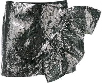 Laneus スパンコール ミニスカート