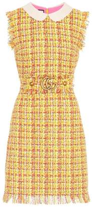 Gucci Frayed Tweed Mini Dress
