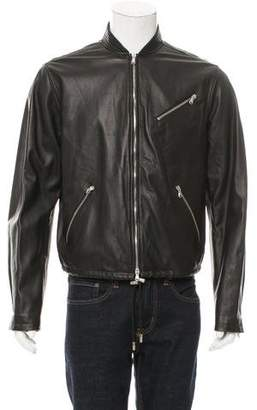Diesel Black Gold Leather Jacket w/ Tags