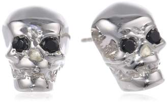 "Rotenier Skull"" Sterling Black Spinel Stud Earrings Set"