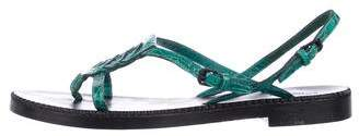Bottega Veneta Alligator Thong Sandals