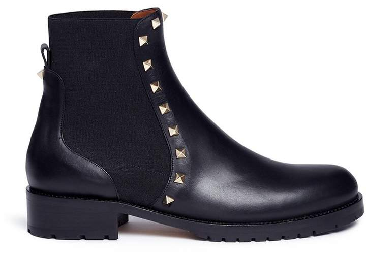 Valentino 'Rockstud' leather Chelsea boots
