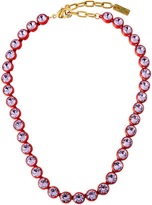 TOVA Painted Link Crystal Necklace