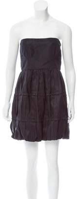 Miu Miu Pleated Strapless Dress