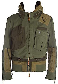 DSQUARED2 Men's Hooded Military Bomber Jacket