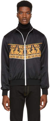 Versace Black Statues Zip-Up Jacket