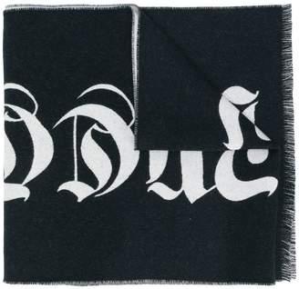 Alexander McQueen frayed trim scarf