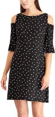 Chaps Petite Shoulder Cutout Shift Dress
