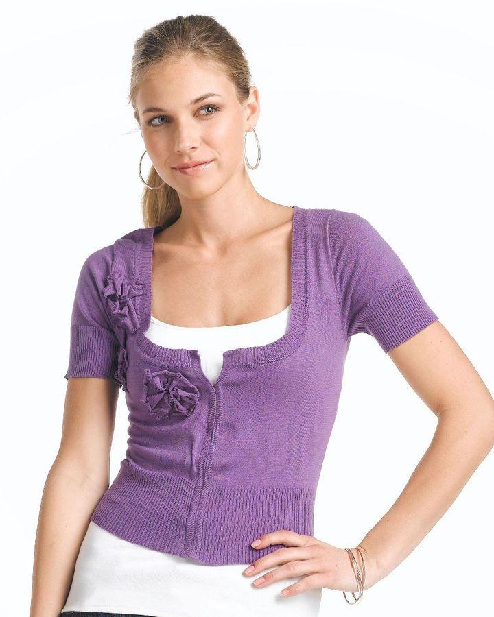 Xoxo flower-applique cardigan