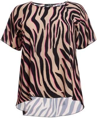 6c6599a13fb Next Womens Quiz Curve Zebra Print Dip Hem Top