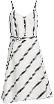 Rag & Bone Rag& Bone Rag& Bone Women's Doris Sleeveless Belted A-Line Dress