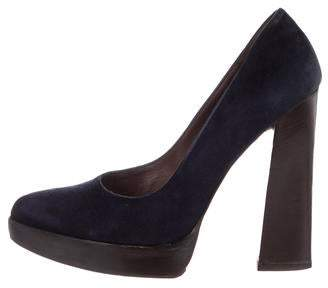 Marni Pointed-Toe Platform Pumps
