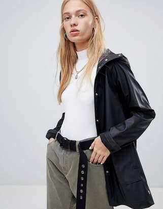 Herschel classic hooded waterproof jacket in black