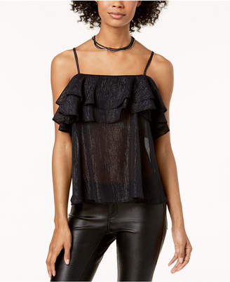 Macy's The Edit By Seventeen Juniors' Ruffled Tank Top, Created for