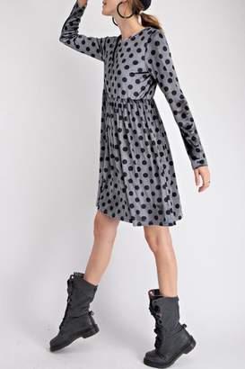 Easel Velvet Dot Dress