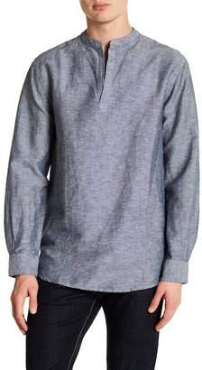 Perry Ellis Long Sleeve Popover Shirt