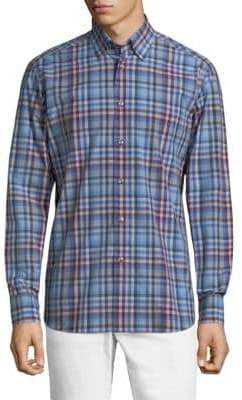 Brioni Checked Button-Front Shirt