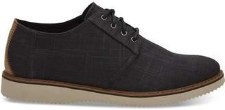 Black Linen Men's Preston Dress Shoes