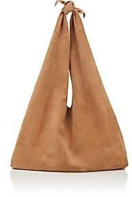 The Row Women's Bindle Suede Shoulder Bag - Beige, Tan