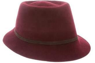Helen Kaminski Suede Trim Felt Bucket Hat