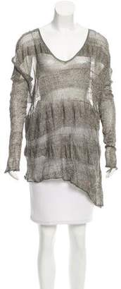 Helmut Lang Open Knit Asymmetrical Top