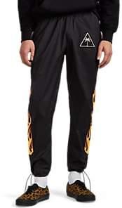 Palm Angels Men's Flame-Print Tech-Fabric Track Pants - Black