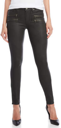 Paige High-Rise Edgemont Luxe Coated Skinny Jeans