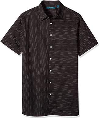 Perry Ellis Men's Big and Tall Short Sleeve Slub Space Dye Shirt