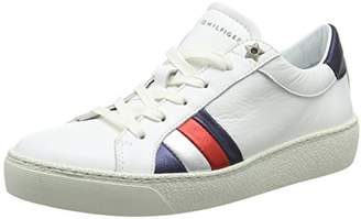 Tommy Hilfiger Women's Corporate Iconic Sneaker Low-Top (White 100)