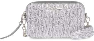 Miu Miu sequin embellished crossbody bag