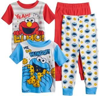 Toddler Boy Sesame Street Elmo & Cookie Monster Tops & Bottoms Pajama Set