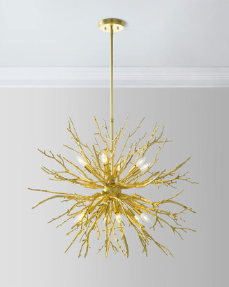 John-Richard Collection John Richard Collection Branches of Gold 12-Light Chandelier