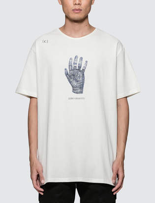 C2h4 Los Angeles 3D Hand Model Print S/S T-Shirt